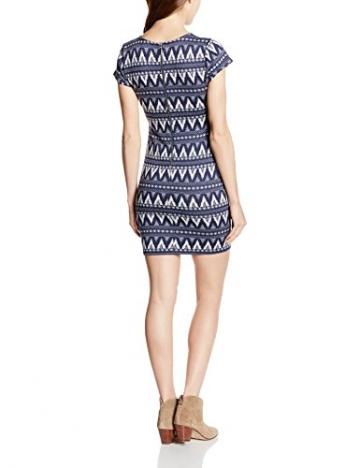 TALLY WEIJL Damen Kleid SDR4026TAGA9, Mini, Gr. 36 (Herstellergröße: S), Mehrfarbig (Insignia Blue-Black BLUBLK035) -