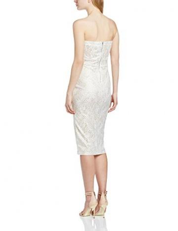 TFNC Damen Schlauch Kleid Gr. 36, Elfenbein - Off-White (Cream/Gold) - 2