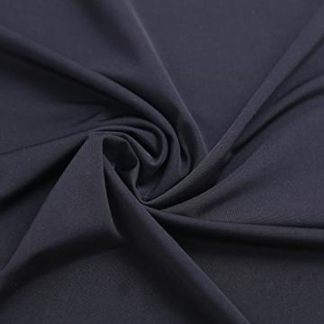 TiaoBug Damen Unterkleid Unterrock Basic Kleider schulterfrei Trägerlos Etuikleid enges Kleid kurz transparentes Minikleid Nachthemd Reizwäsche Schwarz One Size - 7