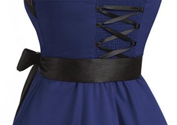 Timormode 10212 Damen Vintage Kleid 1950 Neckholder Cocktailkleid Faltenrock Partykleid S Marineblau - 5