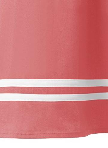 Timormode Rockabilly Kleider Neckholder 50s Vintage Kleid Retro Knielang Kleider Damenkleider Festlich Cocktailkleider 10387 Koralle M - 6