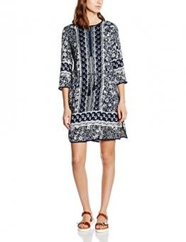TOM TAILOR Damen Kleid Trendy Tunic Dress, Blau (Real Navy Blue 6593), 40 -