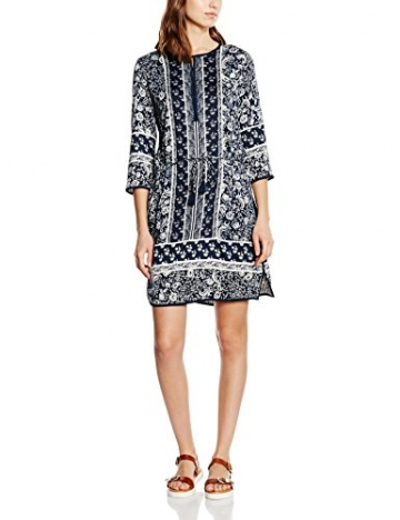 TOM TAILOR Damen Kleid Trendy Tunic Dress, Blau (Real Navy Blue 6593), 40 -