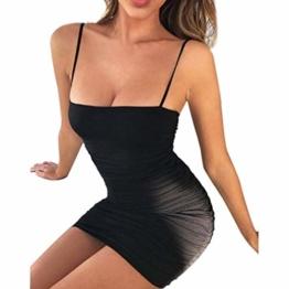 Tupath Kleid für Frauen Liebsten Ärmellos Sommer Über Knie Mini Club Kleider (Farbe : Schwarz, Größe : Klein) - 1
