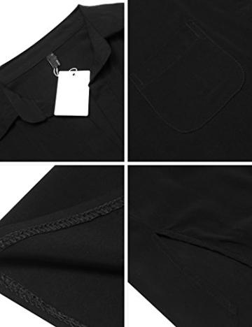 Unibelle Strandkleid Damen Bikini Cover Up Tunika Bluse Lang Strandkleid Damen Shirt Strandponcho Sommer Cuffed Sleeve Shirts Tops - 6
