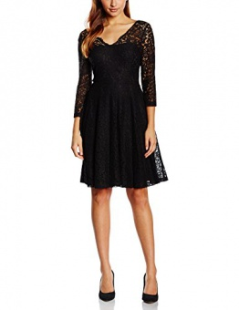 United Colors of Benetton Damen Kleid, All Over Lace Dress, Medium (Herstellergröße: Medium), Schwarz (Black) - 1