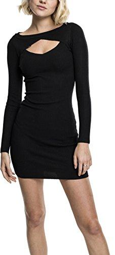 Urban Classics Damen Ladies Cut Out Dress Kleid, Schwarz (Black 7), Medium - 1