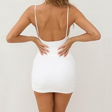 VEMOW Sommer Elegante Damen Leibchen Bodycon Sleeveless beiläufige tägliche Party Beach Holiday Mini Kleid Mode Kleid(Weiß, 44 DE/XL CN) - 8
