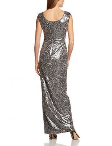 Vera Mont Damen Cocktail Kleid 2122/3609, Maxi, Einfarbig, Gr. 34, Schwarz (Black/Cream 9812) - 2