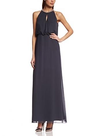 Vera Mont Damen Cocktail Kleid 2182/3985, Maxi, Einfarbig, Gr. 40, Grau (Graphite 8531) - 1