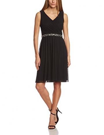 Vera Mont Damen Cocktail Kleid 2208/3640, Knielang, Einfarbig, Gr. 38, Schwarz (Jet Black 9042) - 1