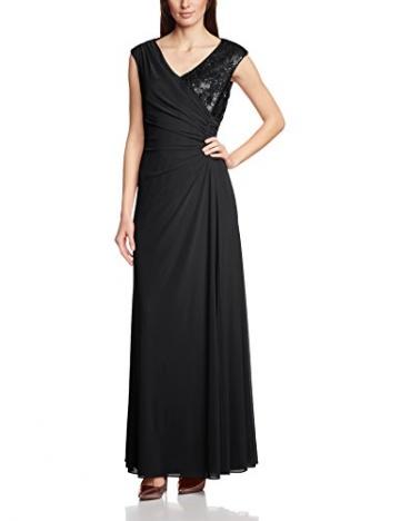 Vera Mont Damen Cocktail Kleid 2209/3640, Maxi, Einfarbig, Gr. 42, Schwarz (Jet Black 9042) - 1