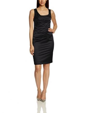 Vera Mont Damen Cocktail Kleid 0070/4804, Midi, Einfarbig, Gr. 44, Schwarz (Jet Black 9042) -