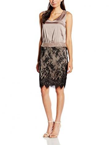 Vera Mont Damen Kleid 2102/4525, Knielang, Gr. 38, Beige (Smoky Taupe 7322) - 1