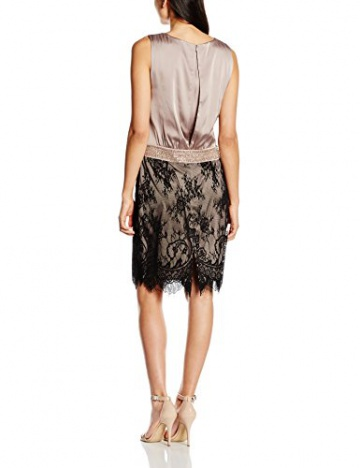 Vera Mont Damen Kleid 2102/4525, Knielang, Gr. 38, Beige (Smoky Taupe 7322) - 2