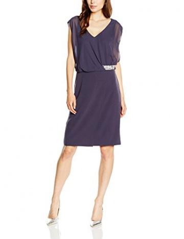 Vera Mont Damen Kleid 2108/4612, Knielang, Gr. 36, Grau (Mood Indigo 8528) - 1