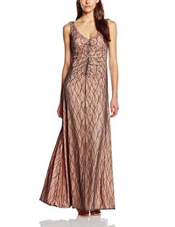 Vera Mont Damen Kleid 2133/4623, Maxi, Gr. 42, Grau (Black Diamond 8148) - 1
