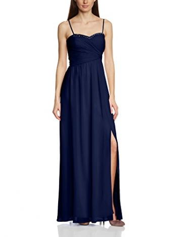 Vera Mont VM Damen Cocktail Kleid 2013/3975, Maxi, Einfarbig, Gr. 36, Blau (Evening Blue 8339) - 3