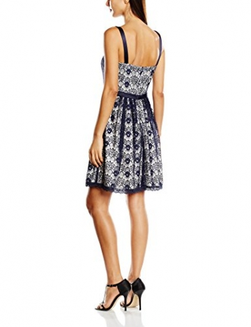 Vera Mont VM Damen Cocktail Kleid 2532/3580, Mini, Gr. 36, Mehrfarbig (Dark Blue/Cream 8813) -