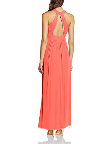 Vera Mont VM Damen Kleid 2548/4561, Maxi, Gr. 38, Rosa (Georgia Peach 4044) - 2