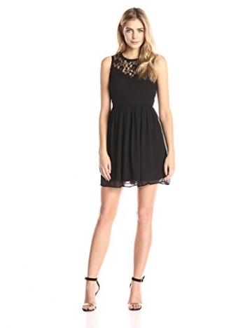 VERO MODA Damen A-Linie Kleid VMAYA S/L DRESS NOOS, Mini, Einfarbig, Gr. 34 (Herstellergröße: XS), Schwarz Black - 1