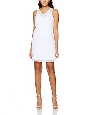 VERO MODA Damen Kleid Vmbianca S/L Mini Dress Noos, Weiß (Bright White Bright White), 38 (Herstellergröße: M) -