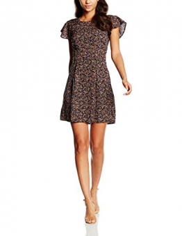 VERO MODA Damen Kleid Vmfauna Emmas S/S Short Dress, Mehrfarbig (Total Eclipse Aop:Fauna Comb), 38 (Herstellergröße: M) -