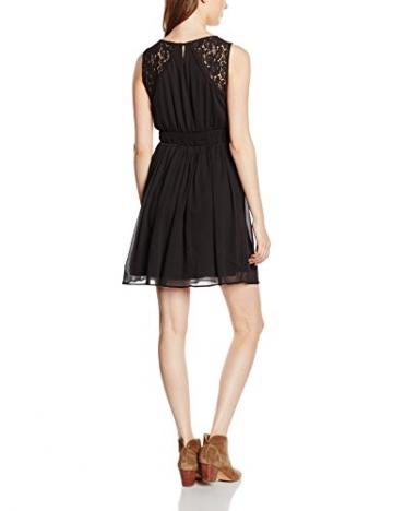 VERO MODA Damen Kleid VMFREJA S/L DRESS NOOS, Mini, Einfarbig, Gr. 38 (Herstellergröße: M), Schwarz Black - 2