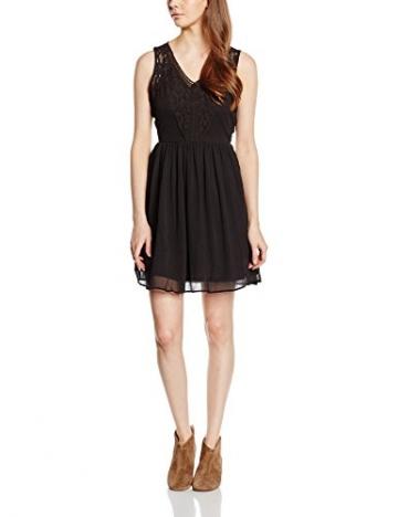 VERO MODA Damen Kleid VMFREJA S/L DRESS NOOS, Mini, Einfarbig, Gr. 38 (Herstellergröße: M), Schwarz Black - 1