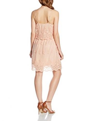 VERO MODA Damen Kleid Vmkiki S/L Mini Dress, Rosa (Rose Dust Rose Dust), 38 (Herstellergröße: M) -