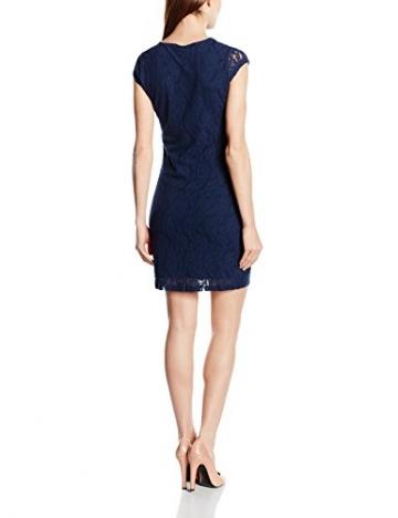 VERO MODA Damen Kleid VMLILLY LACE SHORT DRESS NOOS, Mini, Einfarbig, Gr. 36 (Herstellergröße: S), Blau Black Iris - 2