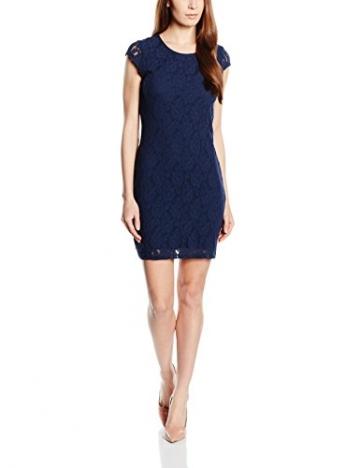 VERO MODA Damen Kleid VMLILLY LACE SHORT DRESS NOOS, Mini, Einfarbig, Gr. 36 (Herstellergröße: S), Blau Black Iris - 1