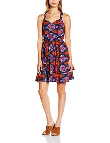 VERO MODA Damen Kleid Vmmalu S/L Short Dress, Mehrfarbig (Adobe AOP:MALU PRINT), 42 (Herstellergröße: XL) -