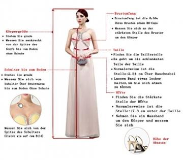 Victory Bridal Einfach Tief V Ausschnitt Abendkleider Ballkleider Brautjungfernkleider kurzes Chiffon-40 Tuerkis -