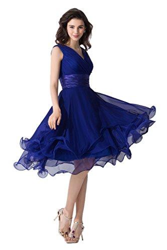 ツ Victory Bridal Sexy Kleid Tiefer V-Ausschnitt Abendkleid ...