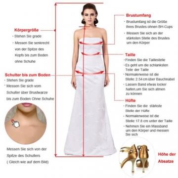 Victory Bridal Glamour Ein-Schulter mit Blumen Minikleider Abendkleider Kurz Chiffon Cocktailkleider Sommerkleider Brautjungfernkleider-40 Flieder - 3