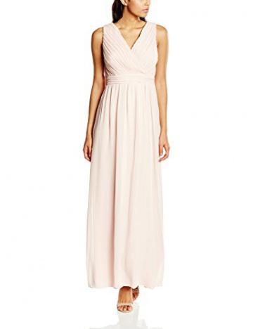 VILA CLOTHES Damen Dekolletiertes Kleid Vihitti Dress, Maxi, Einfarbig, Gr. 36 (Herstellergröße: S), Rosa (Rose Smoke) - 1