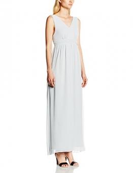 VILA CLOTHES Damen Empire Kleid Viorigin Dress, Maxi, Gr. 36 (Herstellergröße: S), Grau (Pearl Blue) - 1