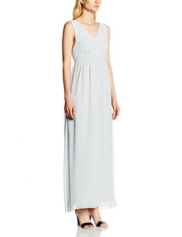 VILA CLOTHES Damen Empire Kleid Viorigin Dress, Maxi, Gr. 36 (Herstellergröße: S), Grau (Pearl Blue) - 1