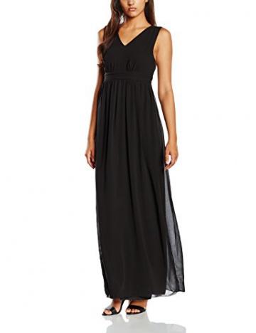 VILA CLOTHES Damen Empire Kleid Viorigin Dress, Maxi, Gr. 36 (Herstellergröße: S), Schwarz - 1