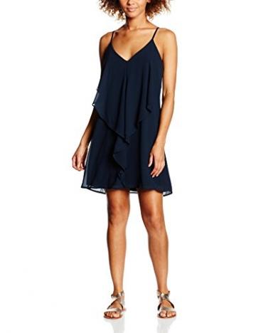 VILA CLOTHES Damen Kleid Vidressa Dress TB, Blau (Total Eclipse), 36 (Herstellergröße: S) -