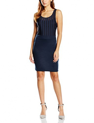 VILA CLOTHES Damen Kleid VIENSURE S/L DRESS GV, Mini, Gr. 36 (Herstellergröße: S), Blau (Total Eclipse) - 1