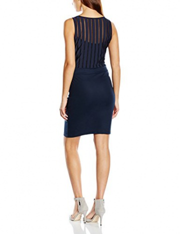 VILA CLOTHES Damen Kleid VIENSURE S/L DRESS GV, Mini, Gr. 36 (Herstellergröße: S), Blau (Total Eclipse) - 2
