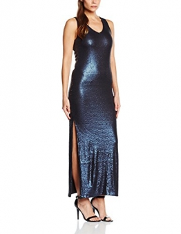 VILA CLOTHES Damen Kleid Vievening Dress, Maxi, Gr. 36 (Herstellergröße: S), Blau (Total Eclipse) - 1