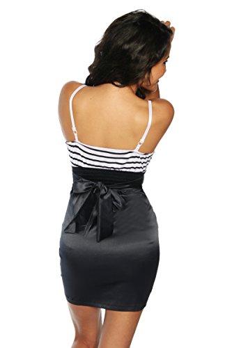 Vintage-Kleid im Marine-Look, Bandeau Träger Minikleid in One-Size (34-38) - 2