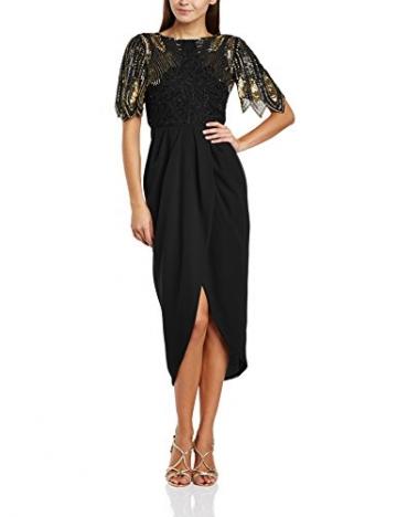 Virgos Lounge Damen Kleid Schwarz Schwarz 34 - 1