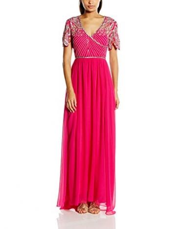 Virgos Lounge Damen Kleid ursula, Maxi, Gr. 36 (Herstellergröße: Size 10), Rosa (Fuschia) - 1
