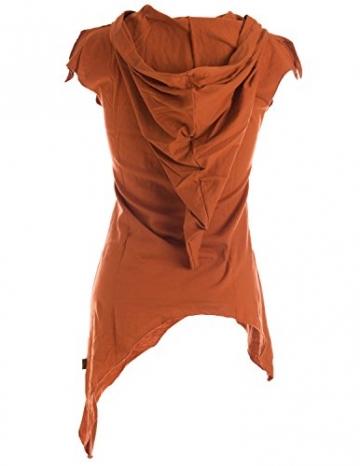 Vishes - Alternative Bekleidung -Pixie Zipfelshirt mit Zipfelkapuze aus Baumwolle orange 46/48 - 2
