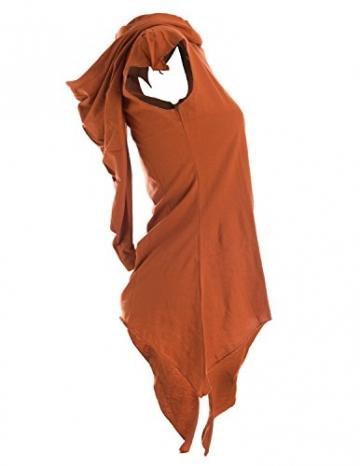 Vishes - Alternative Bekleidung -Pixie Zipfelshirt mit Zipfelkapuze aus Baumwolle orange 46/48 - 3