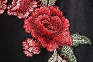 Vovotrade ✿✿ 1SetWomen Sexy Appliques Rose Print Sleeveless Strap Camisole Shirt+Skirt Item specifics (Size:M, Schwarz) -